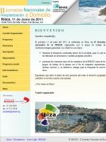 II Jornadas Nacionales de Hospitalización a Domicilio Ibiza 2011